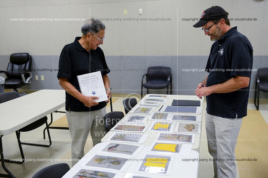 USA, Nebraska, Stadt Macy, Omaha Reservation, College, Mike Berger, Vorbereitung Ausstellung im Humboldt Forum Berlin 2019
