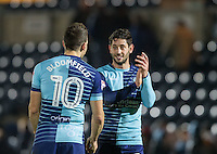Joe Jacobson of Wycombe Wanderers during the Sky Bet League 2 match between Wycombe Wanderers and Hartlepool United at Adams Park, High Wycombe, England on 26 November 2016. Photo by Andy Rowland / PRiME Media Images.