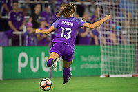Orlando, FL - Thursday September 07, 2017: Alex Morgan during a regular season National Women's Soccer League (NWSL) match between the Orlando Pride and the Seattle Reign FC at Orlando City Stadium.