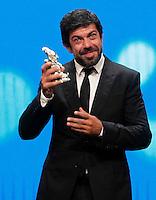 Cerimonia di consegna del premio Le Maschere del Teatro Italiano al Teatro San Carlo di Napoli , 5 Settembre 2014<br /> nella foto Pierfrancesco Favino miglior attore protagonista