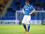 St Johnstone v Alashkert FC...09.07.15   UEFA Europa League Qualifier 2nd Leg<br /> A dejected Tam Scobbie<br /> Picture by Graeme Hart.<br /> Copyright Perthshire Picture Agency<br /> Tel: 01738 623350  Mobile: 07990 594431