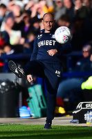 Preston North End manager Alex Neil returns the ball<br /> <br /> Photographer Richard Martin-Roberts/CameraSport<br /> <br /> The EFL Sky Bet Championship - Preston North End v Wigan Athletic - Saturday 6th October 2018 - Deepdale Stadium - Preston<br /> <br /> World Copyright &not;&copy; 2018 CameraSport. All rights reserved. 43 Linden Ave. Countesthorpe. Leicester. England. LE8 5PG - Tel: +44 (0) 116 277 4147 - admin@camerasport.com - www.camerasport.com