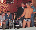 ...September 16th 2010  Exclusive ..Sandra Bullock drinking & dancing with half naked gay dudes wearing speedos at the night club bar called The Abbey in west Hollywood ..AbilityFilms@yahoo.com.805-427-3519.www.AbilityFilms.com.