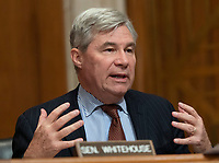 United States Senator Sheldon Whitehouse (Democrat of Rhode Island) participates in a hearing held by the United States Senate Committee on Environment and Public Works to confirm Andrew Wheeler be Administrator of the Environmental Protection Agency January 16, 2019, on Capitol Hill in Washington, DC. Credit: Chris Kleponis / CNP /MediaPunch