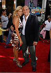 "UFC Fighter Randy Couture (R) and guest arrive at the American Premiere of ""The Mummy: Tomb Of The Dragon Emperor at the Gibson Amphitheatre on July 27, 2008 in Universal City, California."