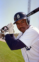 Detroit Tigers Skeeter Barnes (9) during Spring Training 1993 at Joker Marchant Stadium in Lakeland, Florida.  (MJA/Four Seam Images)