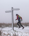 12/01/17<br />  <br /> A fell-runner braves snowy conditions as he tackles the Pennine Way over Ashop Moor near Glossop in the Derbyshire Peak District.<br /> <br /> All Rights Reserved F Stop Press Ltd. (0)1773 550665   www.fstoppress.com