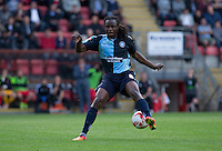 Marcus Bean of Wycombe Wanderers flicks the ball behind him during the Sky Bet League 2 match between Leyton Orient and Wycombe Wanderers at the Matchroom Stadium, London, England on 19 September 2015. Photo by Andy Rowland.