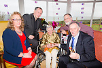 Lally Lawlor, celebrates her 100th Birthday with family and friends at Ocean View Nursing Home in Camp on Saturday. Pictured are her daughter and sons Mary Lawlor, Fr Paul Lawlor and John Lawlor and Tom Lawlor