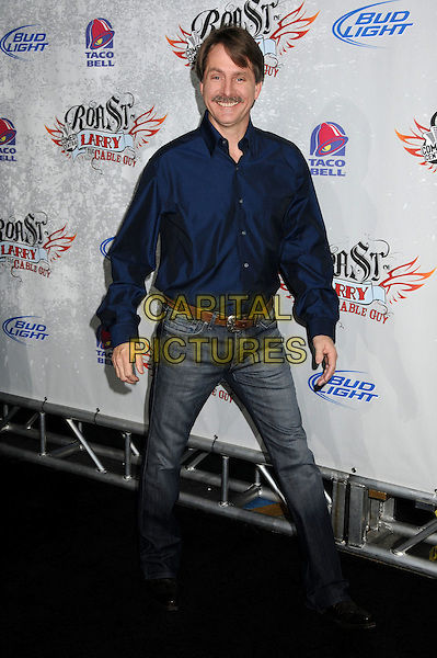 JEFF FOXWORTHY.Comedy Central Roast of Larry The Cable Guy at the Warner Brothers Studios, Burbank, California, USA..March 1st, 2009.full length blue shirt jeans denim .CAP/ADM/BP.©Byron Purvis/AdMedia/Capital Pictures.