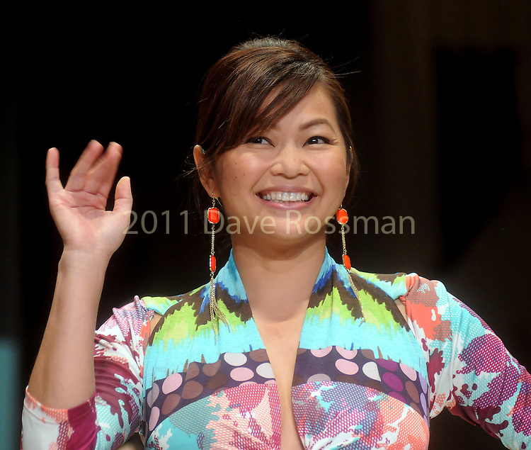 Designer  Chloe Dao after her show at the third night of Fashion Houston at the Wortham Theater Wednesday Oct. 12,2011.(Dave Rossman/For the Chronicle)