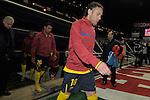 MADRID, Spain (14/02/10).-Liga BBVA de futbol. Partido Atletico de Madrid-FC Barcelona..Gabriel Milito.©Raul Perez ..