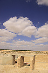Israel, Negev, an old dam in Kibbutz Revivim