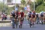 A secong group tries to form at the start of Stage 4 of the La Vuelta 2018, running 162km from Velez-Malaga to Alfacar, Sierra de la Alfaguara, Andalucia, Spain. 28th August 2018.<br /> Picture: Eoin Clarke   Cyclefile<br /> <br /> <br /> All photos usage must carry mandatory copyright credit (&copy; Cyclefile   Eoin Clarke)