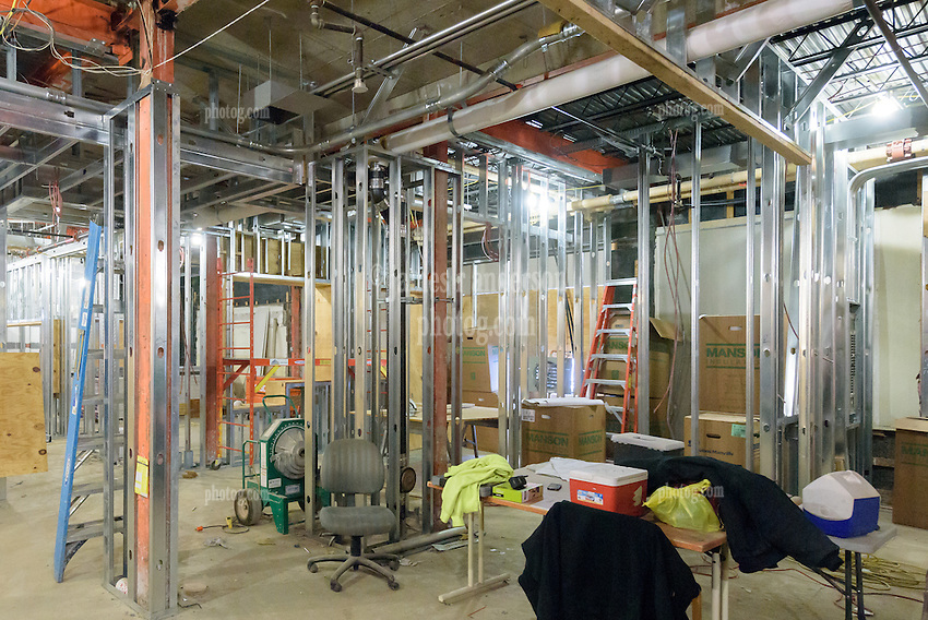 Major Renovation Litchfield Hall WCSU Danbury CT<br /> Connecticut State Project No: CF-RD-275<br /> Architect: OakPark Architects LLC  Contractor: Nosal Builders<br /> James R Anderson Photography New Haven CT photog.com<br /> Date of Photograph: 27 January 2017<br /> Camera View: 06 - First Floor Lounge Area South