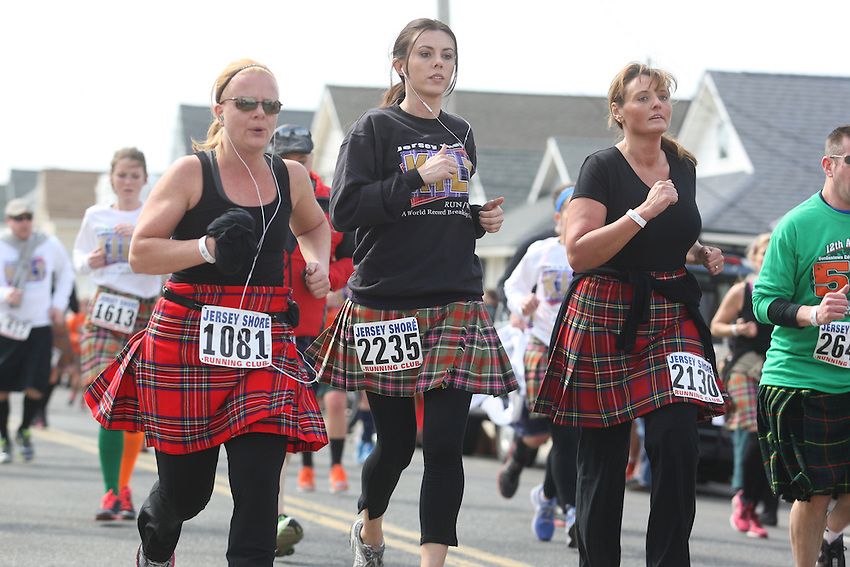 Jersey Shore Kilt Run photos: more than 3,000 try to break Guinness record for world&rsquo;s largest kilt race and raise money for Squan Strong, a Manasquan- based community group that helps raise money for Hurricane Sandy relief.<br />