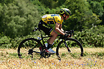 Yellow Jersey leader Adam Yates (GBR) Mitchelton-Scott in action during Stage 5 of the Criterium du Dauphine 2019, running 201km from Boen-sur-Lignon to Voiron, France. 13th June 2019.<br /> Picture: ASO/Alex Broadway | Cyclefile<br /> All photos usage must carry mandatory copyright credit (© Cyclefile | ASO/Alex Broadway)