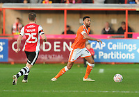 Blackpool's Curtis Tilt under pressure from Exeter City's Jake Taylor<br /> <br /> Photographer Kevin Barnes/CameraSport<br /> <br /> Emirates FA Cup First Round - Exeter City v Blackpool - Saturday 10th November 2018 - St James Park - Exeter<br />  <br /> World Copyright &copy; 2018 CameraSport. All rights reserved. 43 Linden Ave. Countesthorpe. Leicester. England. LE8 5PG - Tel: +44 (0) 116 277 4147 - admin@camerasport.com - www.camerasport.com