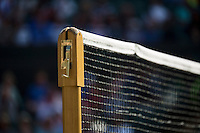 01-07-13, England, London,  AELTC, Wimbledon, Tennis, Wimbledon 2013, Day seven, Netpost and net<br /> <br /> <br /> <br /> Photo: Henk Koster