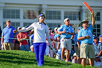 Hye-Jin Choi (a)(KOR) watches her tee shot on 16 head toward the water during Sunday's final round of the 72nd U.S. Women's Open Championship, at Trump National Golf Club, Bedminster, New Jersey. 7/16/2017.<br /> Picture: Golffile | Ken Murray<br /> <br /> <br /> All photo usage must carry mandatory copyright credit (&copy; Golffile | Ken Murray)