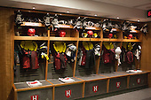 Part of the men's hockey room. - Harvard University celebrated the official opening of the newly renovated Bright-Landry Hockey Center on Saturday, November 1, 2014,  in Cambridge, Massachusetts.