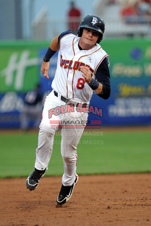 Brooklyn Cyclones infielder Jayce Boyd (8) during game against the Connecticut Tigers at MCU Park on August 03, 2012 in Brooklyn, NY.  Brooklyn defeated Connecticut 3-0.  Tomasso DeRosa/Four Seam Images