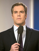 NBC News White House Correspondent Peter Alexander speaks live to his viewers prior to White House Principal Deputy Press Secretary Raj Shah conducting the daily briefing in the Brady Press Briefing Room of the White House in Washington, DC on Thursday, February 8, 2018.  <br /> CAP/MPI/RS<br /> &copy;RS/MPI/Capital Pictures