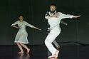 London, UK. 10.04.2013. Fabulous Beast Dance Theatre presents PETRUSHKA at Sadler's Wells. Picture shows: Anna Kaszuba and Keir Patrick. Photograph © Jane Hobson.