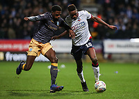 Bolton Wanderers' Sammy Ameobi competing with Sheffield Wednesday's Dominic Iorfa <br /> <br /> Photographer Andrew Kearns/CameraSport<br /> <br /> The EFL Sky Bet Championship - Bolton Wanderers v Sheffield Wednesday - Tuesday 12th March 2019 - University of Bolton Stadium - Bolton<br /> <br /> World Copyright © 2019 CameraSport. All rights reserved. 43 Linden Ave. Countesthorpe. Leicester. England. LE8 5PG - Tel: +44 (0) 116 277 4147 - admin@camerasport.com - www.camerasport.com