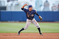 San Antonio Missions second baseman Luis Urias (3) throws to first base during a game against the Tulsa Drillers on June 1, 2017 at ONEOK Field in Tulsa, Oklahoma.  Tulsa defeated San Antonio 5-4 in eleven innings.  (Mike Janes/Four Seam Images)