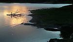 Yala National Park Sri Lanka<br /> Indian Pond Heron and Crocodile