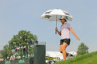 Lydia Ko (NZL) departs the 16th tee during Thursday's first round of the 72nd U.S. Women's Open Championship, at Trump National Golf Club, Bedminster, New Jersey. 7/13/2017.<br /> Picture: Golffile | Ken Murray<br /> <br /> <br /> All photo usage must carry mandatory copyright credit (&copy; Golffile | Ken Murray)