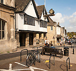 Historic town hall market place, Burford, Oxfordshire, England, UK