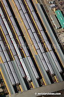 aerial photograph CalTrain commuter rail terminal San Francisco California