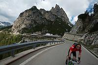 Passo di Falzarego tunnel section.