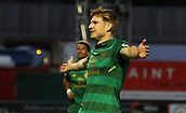 8th September 2017, SuperSeal Stadium, Hamilton, Scotland; Scottish Premier League football, Hamilton versus Celtic; Celtic's Stuart Armstrong celebrates the opening goal