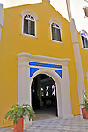 4 August 2009: The Snoga Synagogue, with its white sand floor inside, was built by Sephardic Portuguese Jews from Amsterdam and Recife, Brazil. The Congregation Mikvé Israel built the original structure in 1692. It was reconstructed in 1732 and is the oldest surviving synagogue building in the western hemisphere. Located in the southern Caribbean, off the coast of Venezuela, Curacao is known for its tourism, excellent scuba diving and snorkeling.  Mandatory Credit: Ed Wolfstein Photo