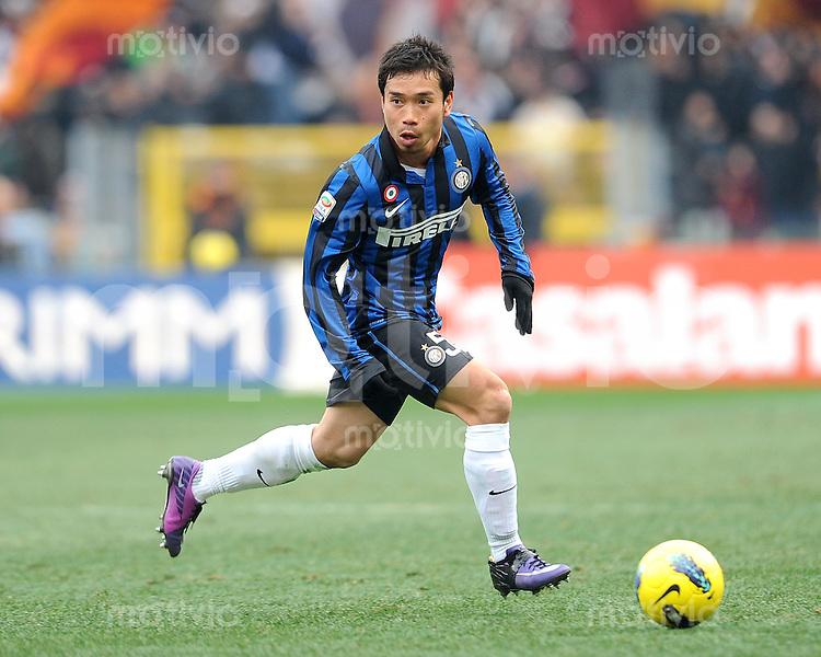 FUSSBALL INTERNATIONAL   SERIE A   SAISON 2011/2012    AS Rom - Inter Mailand  05.01.2012 Yuto Nagatomo (Inter Mailand)