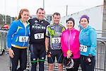 Michelle Daly, David Cronin, Kieran O'Donoghue,Tina O'Donoghue and Linda Mannix enjoying the Puck Warriors Duathlon 5km run 15km cycle 5km run started at JP O Sullivan Park, Killorglin on Saturday