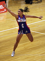 Mystics centre Temepara George in action during the ANZ Netball Championship match between the Central Pulse and Northern Mystics, TSB Bank Arena, Wellington, New Zealand on Monday, 4 May 2009. Photo: Dave Lintott / lintottphoto.co.nz