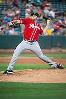 Tacoma Rainiers starting pitcher James Paxton (34) delivers a pitch to the plate against the Salt Lake Bees in Pacific Coast League action at Smith's Ballpark on September 2, 2015 in Salt Lake City, Utah.Tacoma defeated Salt Lake 13-6.  (Stephen Smith/Four Seam Images)