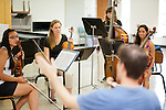 Stephen Miahky instructs a master class during Ohio University's Mozart on the Green Chamber Music Festival and Academy on August 9, 2012 in Athens, Ohio.