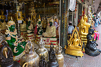 Bangkok, Thailand.  Buddhas and Other Religious Statues for Sale.