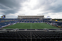Orlando, FL - Sunday July 10, 2016: Camping World Stadium  prior to a regular season National Women's Soccer League (NWSL) match between the Orlando Pride and the Boston Breakers at Camping World Stadium.