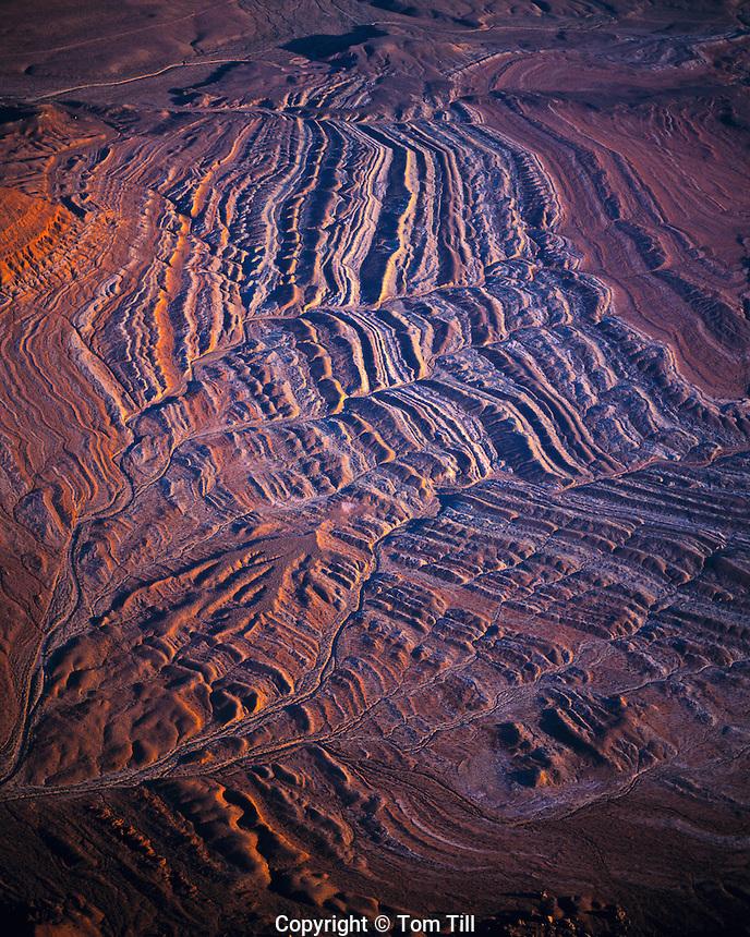 Aerial view of Hurricane Cliffs   Utah/Arizona border