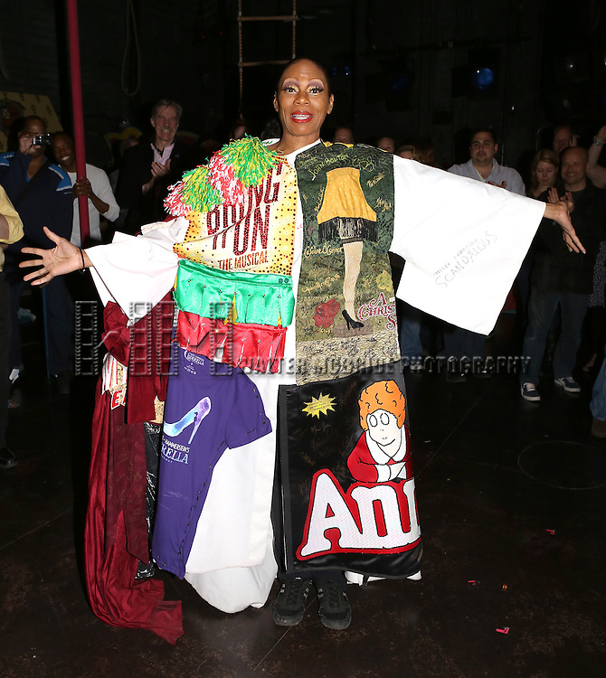 Stephanie Pope  attending the Broadway Opening Night Gypsy Robe Ceremony honoring Stephanie Pope for 'Pippin' at the Music Box Theatre in New York City on 4/25/2013