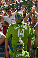 The Mohawk family celebrate the Seattle Sounders 2-1 victory over the Houston Dynamo at the XBox Pitch at Quest Field on July 11, 2009.