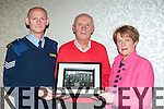 Sargent Dermot O'Connell, Pat Lehane and Joan Culloty niece of Garda's Mick Dunne and Steve Lawlor who were two of twelve Killarney's first gardai with a photograph of the first ever Garda assigned to Killarney in 1924