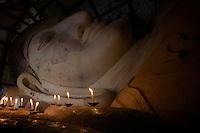 Reclining Buddha Shwenanyindaw temple, Bagan, Myanmar, Burma.