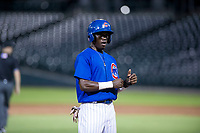 AZL Cubs center fielder Chris Singleton (16) on third base during a game against the AZL Giants on July 17, 2017 at Sloan Park in Mesa, Arizona. AZL Giants defeated the AZL Cubs 12-7. (Zachary Lucy/Four Seam Images)